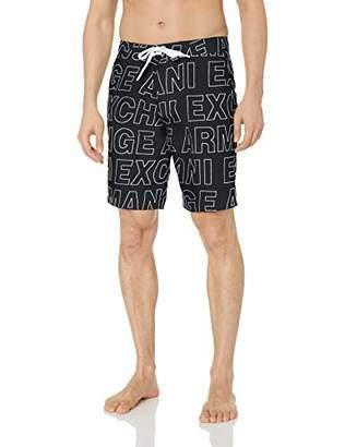 Armani Exchange A|X Men's Endless Logo Swim Trunks