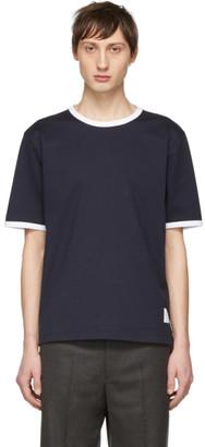 Thom Browne Navy Ringer T-Shirt