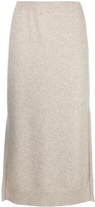 Pringle knitted midi skirt