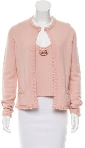 Chanel Chanel Embellished Cashmere Cardigan Set