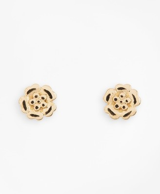 Brooks Brothers Floral Stud Earrings