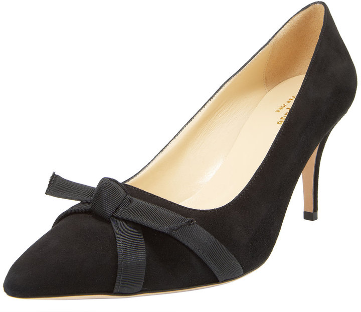 Kate Spade Thea Bow-Toe Suede Pump