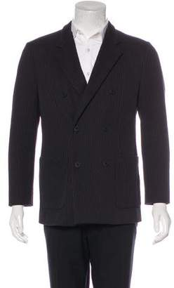 Emporio Armani Ribbed Double-Breasted Blazer
