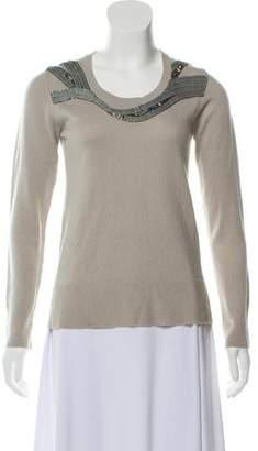 Matthew Williamson Wool & Cashmere-Blend Embellished Sweater