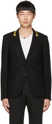 Saint Laurent Black Military Blazer $2,790 thestylecure.com