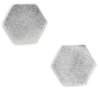 Women's Madewell Hexagon Stud Earrings $18 thestylecure.com