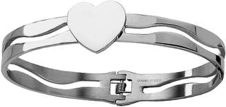 Steel By Design Stainless Steel Heart Hinged Bracelet