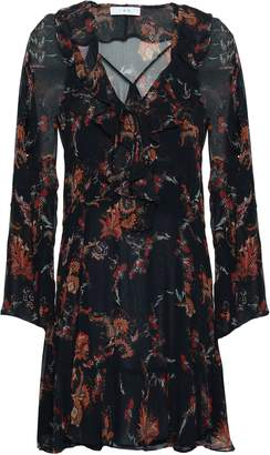 IRO Lucine Ruffled Printed Georgette Mini Dress