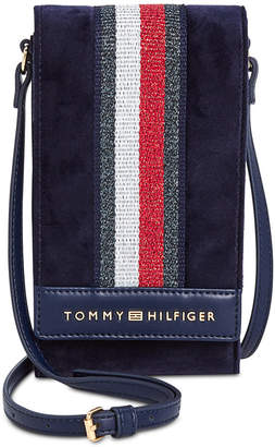 Tommy Hilfiger Isa Velvet Metallic Flag Phone Crossbody