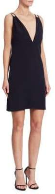 Victoria Beckham Victoria, Gathered V-Neck Mini Dress