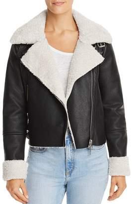 Blank NYC BLANKNYC Faux Shearling Moto Jacket
