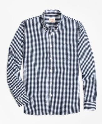 Brooks Brothers Check Cotton Seersucker Sport Shirt