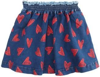 Stella McCartney Nat Heart Denim Skirt