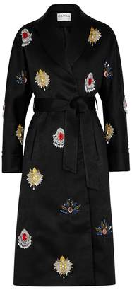 Osman Margeaux Embellished Satin Coat