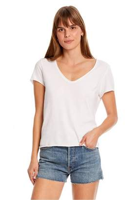 Michael Stars Jade Soft V Neck Tee - Small