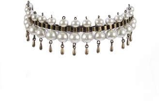 Laura Cantu Jewelry Pearl Statement Choker