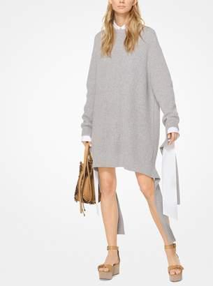 Michael Kors Ribbed Cashmere Sweater Dress