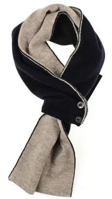 Black Navy and Latte Cashmere Cravat Scarf