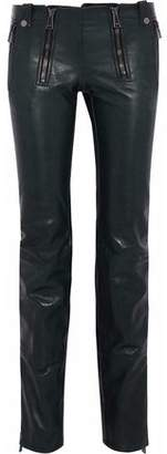 Belstaff Distressed Flared Leather Pants