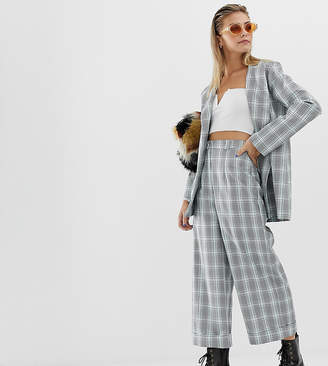 71af8319687 Reclaimed Vintage inspired cropped pants in check print with turn up