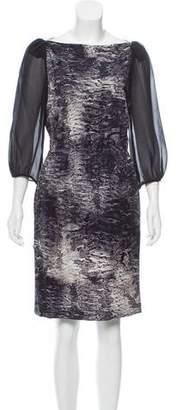 Giambattista Valli Silk Abstract Dress