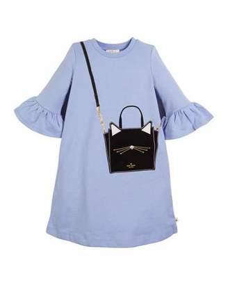 Kate Spade cat bag trompe l'Oeil dress, size 7-14