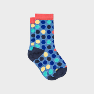 Boys' 2-6 Years Blue Multi-Spot 'Neuf' Socks $25 thestylecure.com