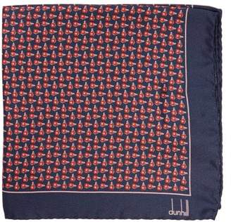 Dunhill Wing Nut Print Silk Pocket Square - Mens - Red