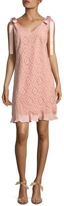 NANETTE nanette lepore Women's Diamond Lace Shift Dress
