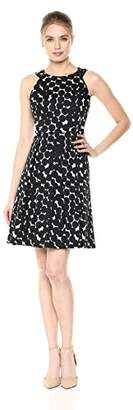Nine West Women's Sleeveless Polka dot fit and Flare Dress