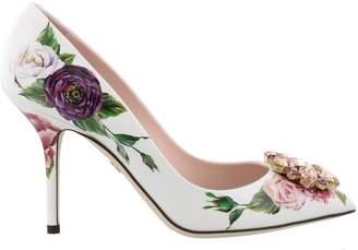 Dolce & Gabbana Bellucci Decollete' With Peonia Print