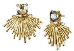 Badgley Mischka Fan Drop Earrings