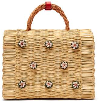 Heimat Atlantica - Shella Woven Basket Bag - Womens - Cream Multi