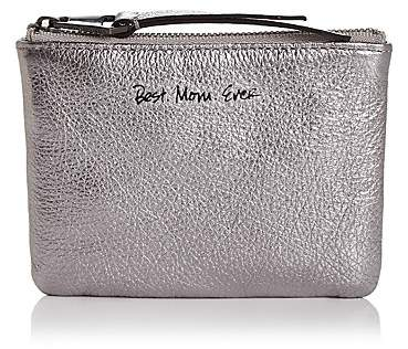 Rebecca Minkoff Betty Best Mom Ever Leather Pouch - ANTHRACITE SILVER/GUNMETAL - STYLE