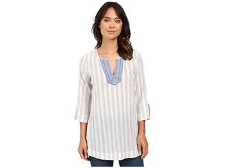 NYDJ Cotton Embroidered Tunic Women's Blouse