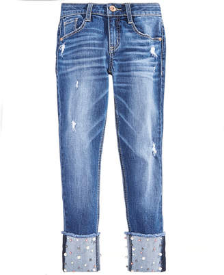 Imperial Star Big Girls Pearl High-Cuff Jeans