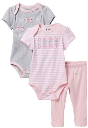 DKNY Bow Set with Leggings (Baby Girls 0-9M)