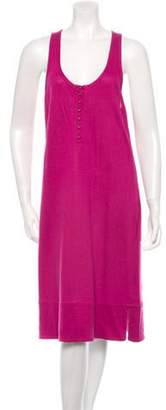 Sonia Rykiel Rib Knit-Trimmed Sleeveless Dress w/ Tags Magenta Rib Knit-Trimmed Sleeveless Dress w/ Tags