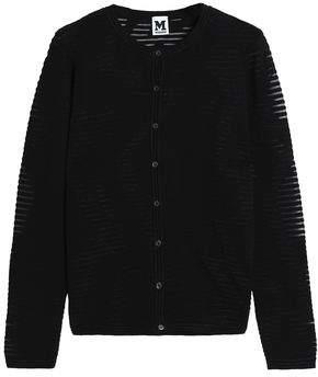 M Missoni Ribbed Crochet-Knit Cardigan