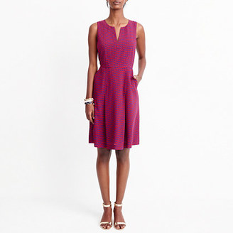 Printed split-neck dress $98 thestylecure.com