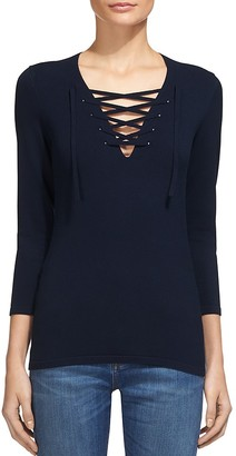 Whistles Lace-Up Sweater $199 thestylecure.com