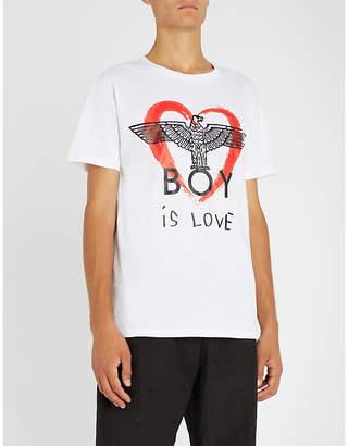 Boy London Boy is Love cotton-jersey T-shirt