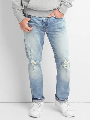 Gap Cone Denim® Distressed Jeans in Slim Fit with GapFlex