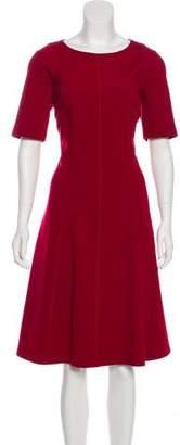 Lafayette 148 Short Sleeve Midi Dress