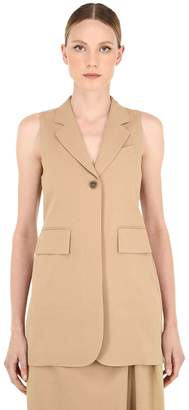 Salvatore Ferragamo Cotton & Silk Blend Canvas Waistcoat