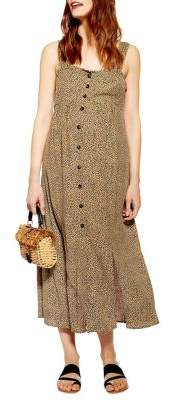 Topshop MATERNITY Animal Midi Dress