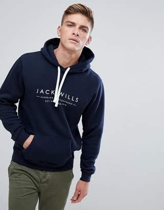Jack Wills Batsford Heritage Hoodie In Navy