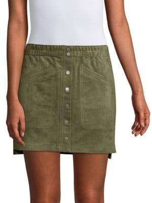 BCBGMAXAZRIA Mora Faux-Suede Mini Skirt