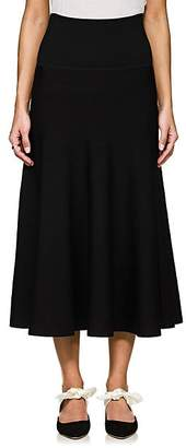 The Row Women's Alessia Wool-Blend A-Line Skirt - Black