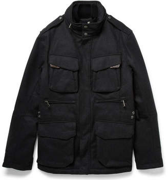 Ralph Lauren Black Label Mandator Padded And Layered Wool-Blend Jacket